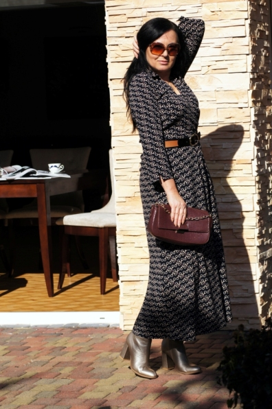 Jesienna sukienka w ciekawy print