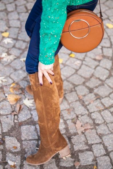 Zielony sweter