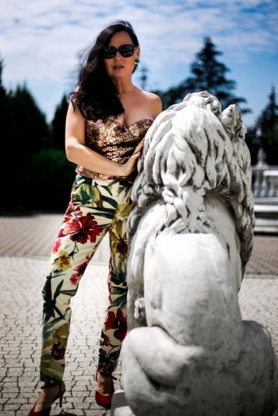 foto de Garnitur w kwiaty w wersji glamour Edyta Andrzejewska
